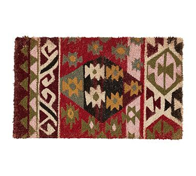 Kilim Doormat In 2020 Kilim Door Mat Pottery Barn