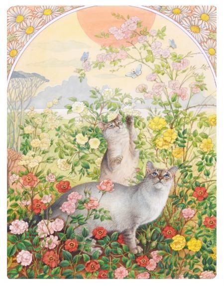 NOON: RA-RA AND MU MU IN ROSES by LESLEY ANNE IVORY - original artwork for sale | Chris Beetles