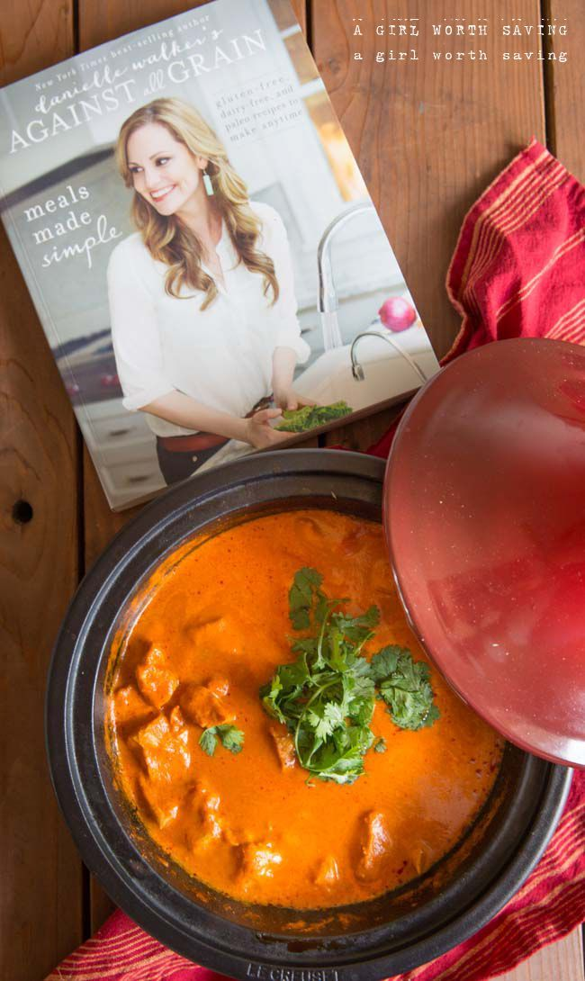 Chicken slow cooked in a tomato cream sauce makes this dairy free paleo chicken tikka masala irresistible