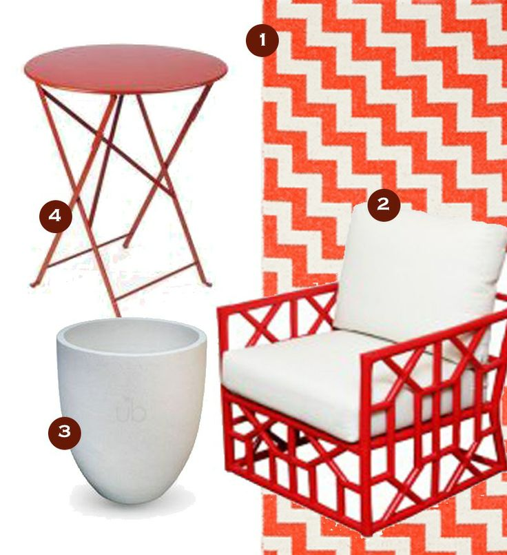 Http://interior Apartment.com/over The Rainbow/red/outdoor Furniture Looks I Love Right Now/  | Get The Look! | Pinterest