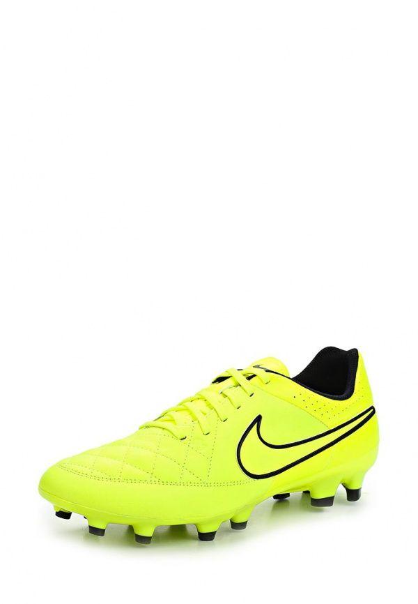 Бутсы Nike / Найк Цвет: желтый. Материал: искусственная кожа, натуральная кожа. Сезон: Осень-зима 2014/2015. С бесплатной доставкой и примеркой на Lamoda. http://j.mp/1l4iRSS