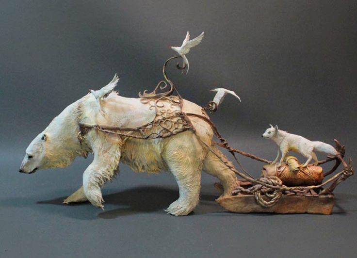 Best Sculpture Creature Images On Pinterest Cold Porcelain - Surreal animal plant sculptures ellen jewett
