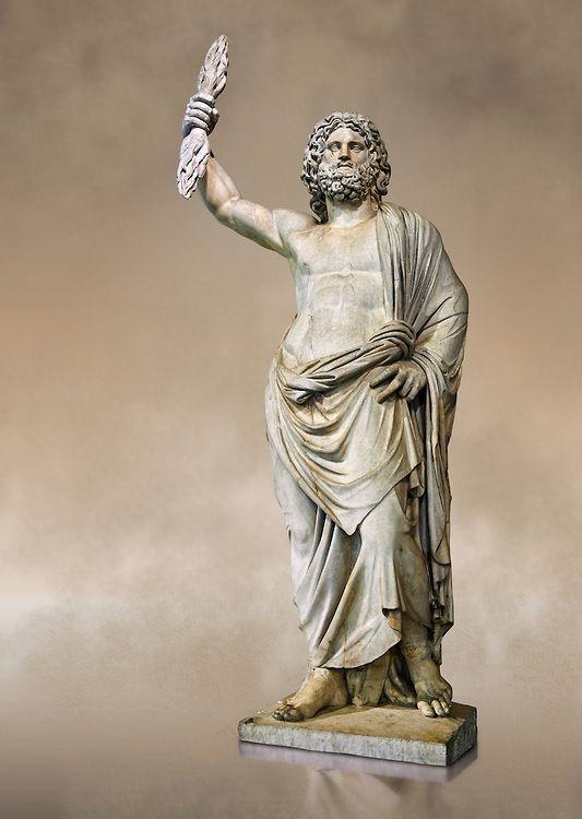 Statue of a male divinity known as Jupiter de Smyrne, a ...