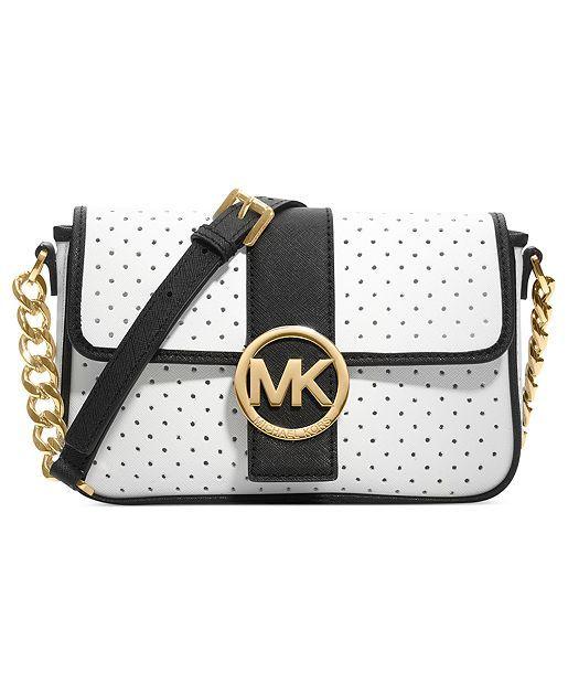 MICHAEL Michael Kors Handbag, Fulton Small Perforated Messenger Bag - Shop  All Michael Kors Handbags \u0026 Accessories - Handbags \u0026 Accessories - Macys