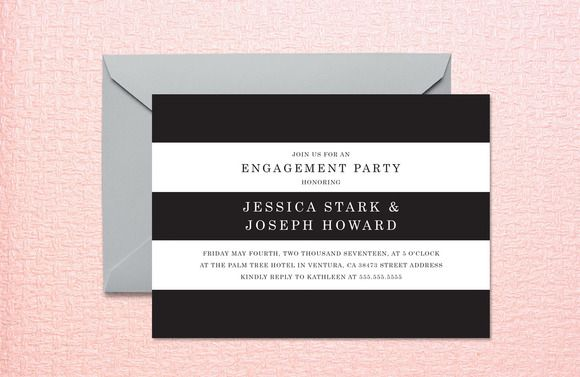 21 best 20+ Engagement Invitation Template Word, InDesign and PSD - engagement invite templates