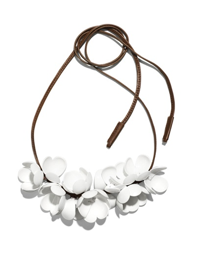 marni for h collection  white necklace
