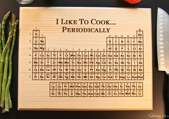 Personalized Cutting Board Engraved Element Periodic by CabanyCo