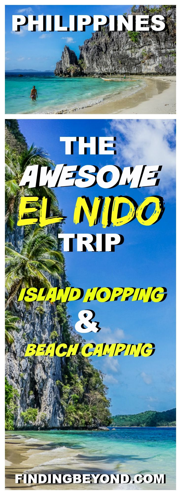 Check out our awesome El Nido (Philippines) trip itinerary. Included is information on El Nido island hopping, El Nido camping and how to get there. | Snake Island El NIDO | Big Lagoon El Nido | Small Lagoon El Nido | Beach Camping in the Philippines | Island Camping | El Nido Boat Tours | best Beaches Philippines | Philippines on a budget | Top Places To Visit In the Philippines | Best attractions in El Nido