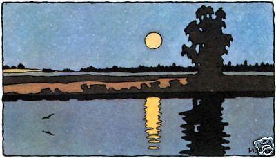 Moon Lake - Bilibin Russian Folk Art Print
