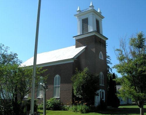 christ episcopal church bethlehem connecticut work on building the church was begun