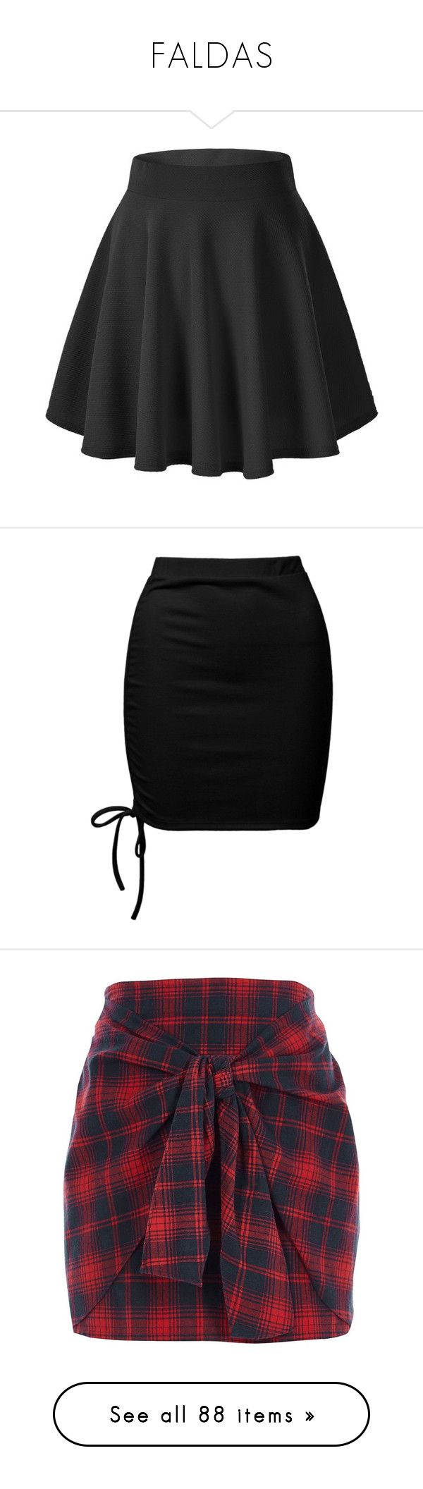 """FALDAS"" by mayra-zulema ❤ liked on Polyvore featuring skirts, mini skirts, bottoms, pants, black, flared mini skirt, flared skater skirt, stretch mini skirt, mini circle skirt and mini skater skirt"