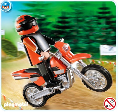 Enduro Motorcycle with Rider $7.99
