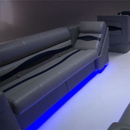 Accent lighting under pontoon seats