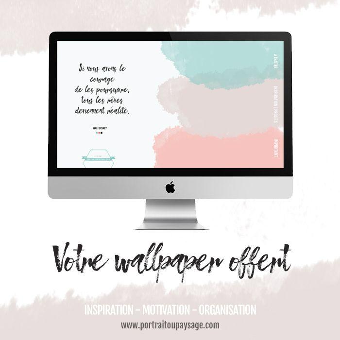 Retrouvez 5 astuces pour bien organiser votre journée et en cadeau, téléchargez votre wallpaper - organizer