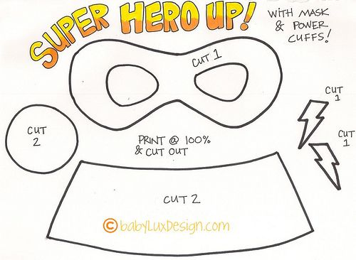 Printable super hero mask already preparing this for for Diy will template