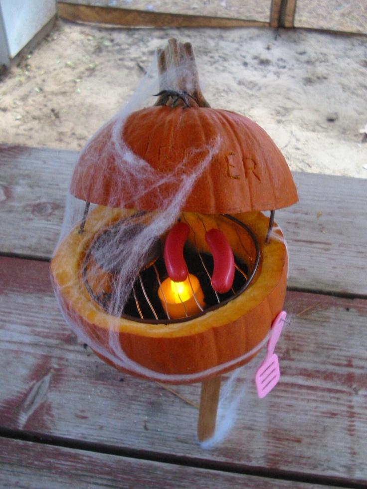 Weber grill pumpkin... This makes me lol :) | Thug Life ...