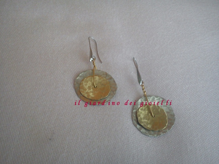 metal-brass earrings