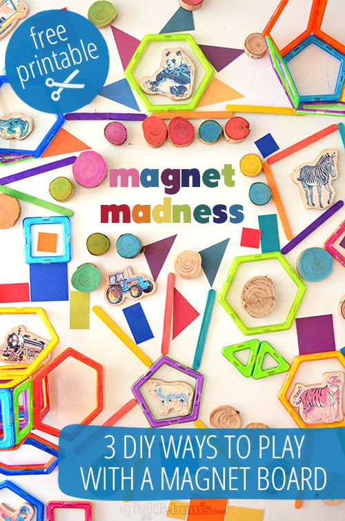 Magnet Madness! - 3 DIY ways to play with a magnet board: Building Se, Kids Club, Kid Games, Magnets Ideas, Three Diy, Boards Ideas, Magnets Building