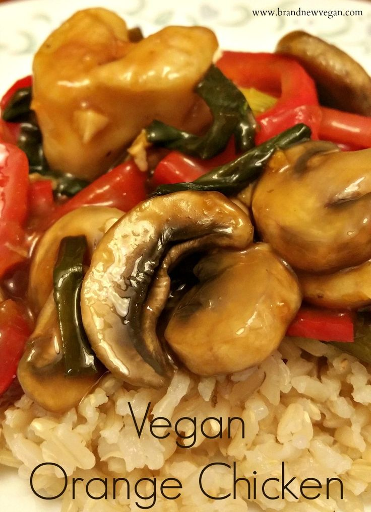 A Vegan Orange Chicken Stir-Fry that tastes just like Panda Express only using Baked Cauliflower Bites instead. Completely Vegan and Fat-Free.