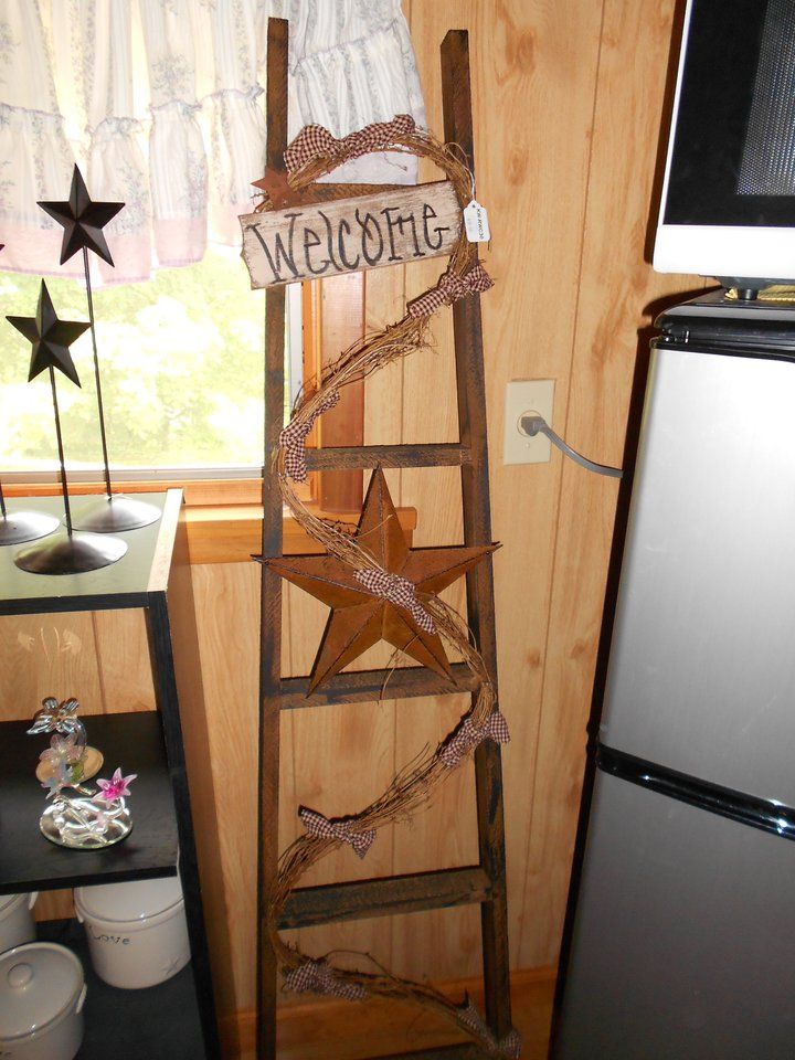 17 Best Images About Ladder Country Decor On Pinterest