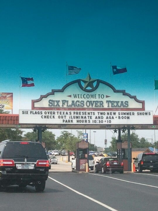 Six Flags Over Texas. Going today6/15/14. Who wanna go? Lol jk