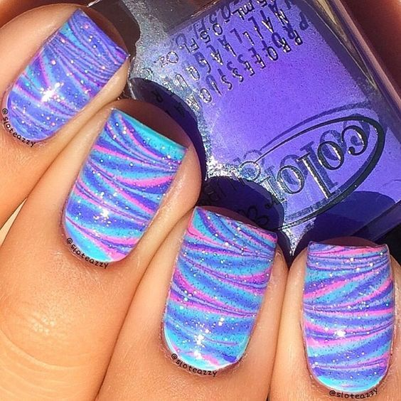 Browse & see more Water marble nail art designs 2016