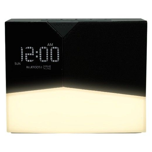 Say hello to a beautiful morning with the BEDDI Glow Intelligent Alarm Clock with Wake-Up Light in Black from WITTI®. Simply connect to this hi-tech alarm clock via Bluetooth and program your favorite music to wake up to from Spotify, Apple Music or another music streaming app. Then, customize your sunrise lighting according to preference. You can also drift off to sleep to soothing white noise while charging your phone and tablet with the dual USB chargers.