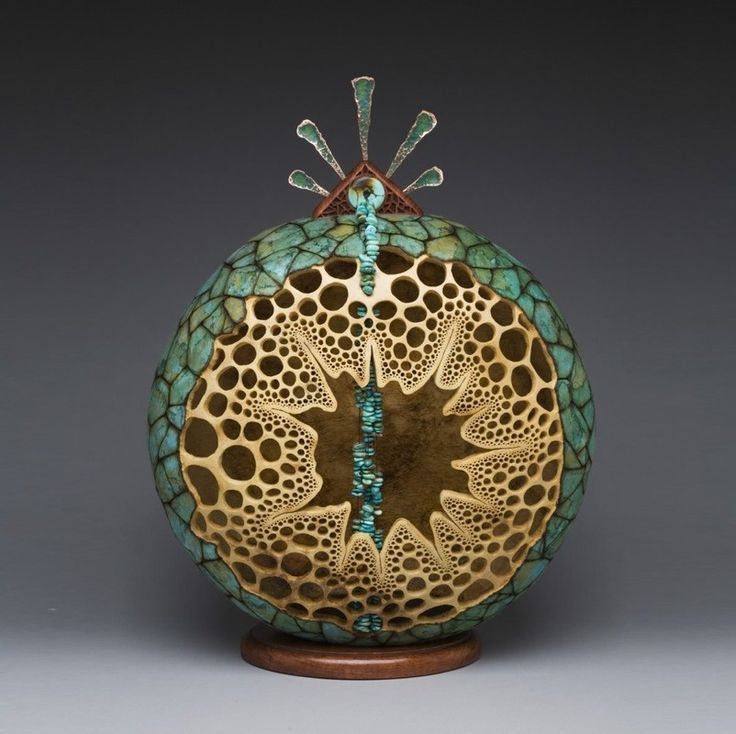 Резьба по тыкве и дереву - Все интересное в искусстве и не только.