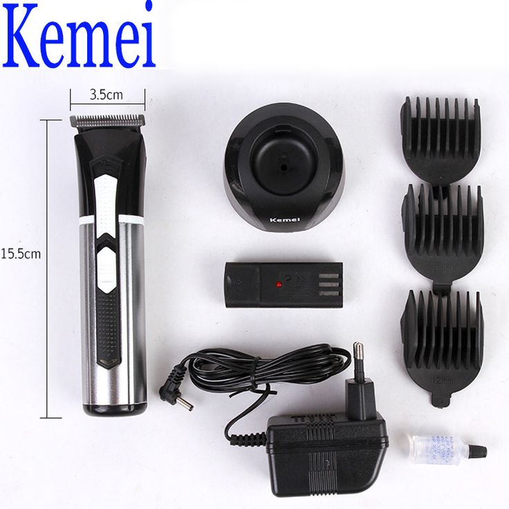 Kemei KM-3008 Men's Hair Clipper Rechargeable Beard Trimmer Professional Personal Hair Clipper Trimming Tools with A Battery #Affiliate