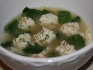 Italian Wedding Soup by Tammy LeMesurier. I love love love Italian Wedding Soup and this is the closest I've come to matching the one from East Side Mario's...