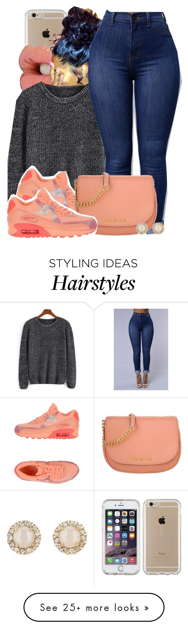 """""""Untitled #622"""" by b-elkstone on Polyvore featuring Speck, NIKE, Michael Kors and Kate Spade https://twitter.com/faefmgianm/status/895095114724327424"""