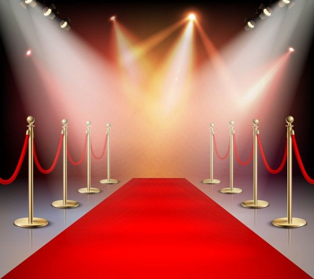 Download Red Carpet In Illumination Composition For Free Red Carpet Backdrop Luxury Background Poster Background Design