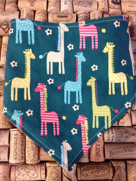 Baby Bibdana - Giraffe party on Etsy, $6.50