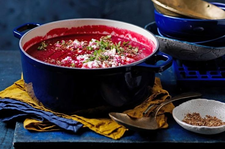 The only thing better than this soup's vibrant pink colour is its fantastic taste.