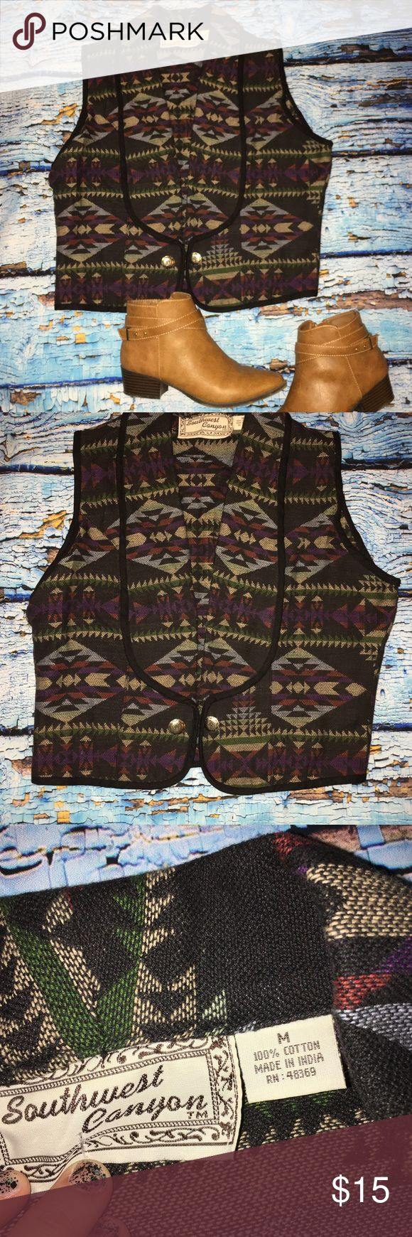 Aztec Vest Vintage M Aztec women's medium vest vintage m. Presented in gently used condition. Tops Sweatshirts & Hoodies
