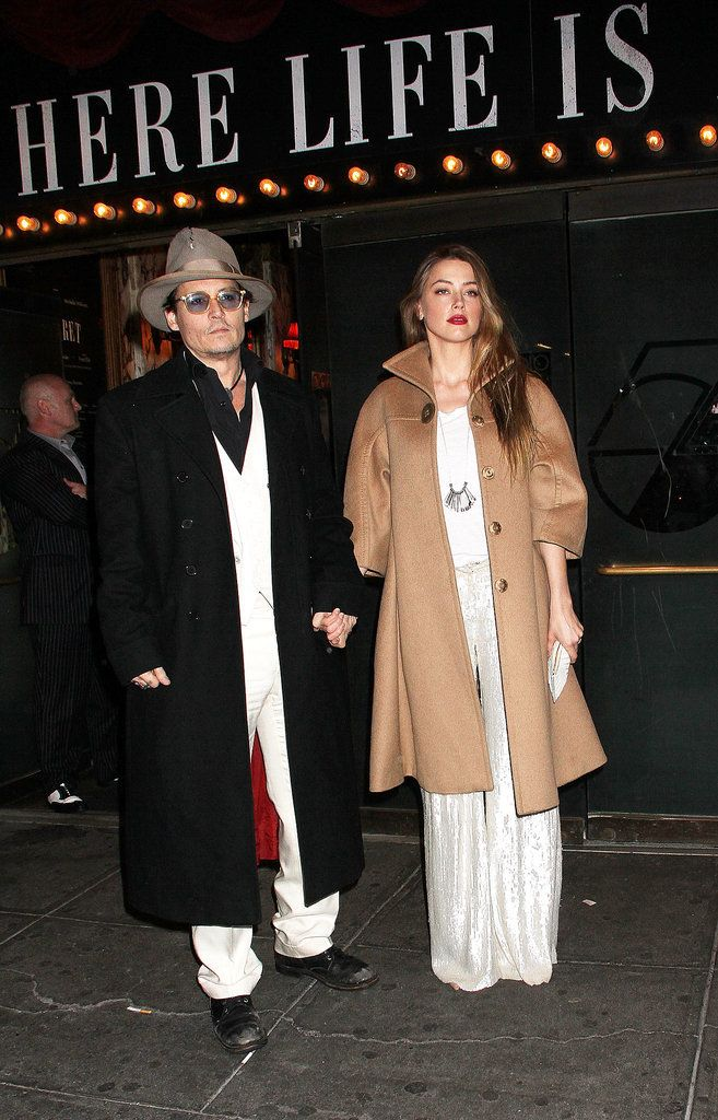 Johnny Depp and Amber Heard Have a Broadway Date Night: Johnny Depp and Amber Heard made a Broadway date on Thursday when they dropped by the opening night of Cabaret on the Great White Way.