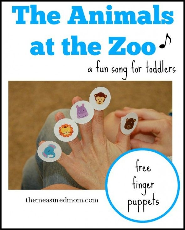Free finger puppets for an animal sound song that toddlers love