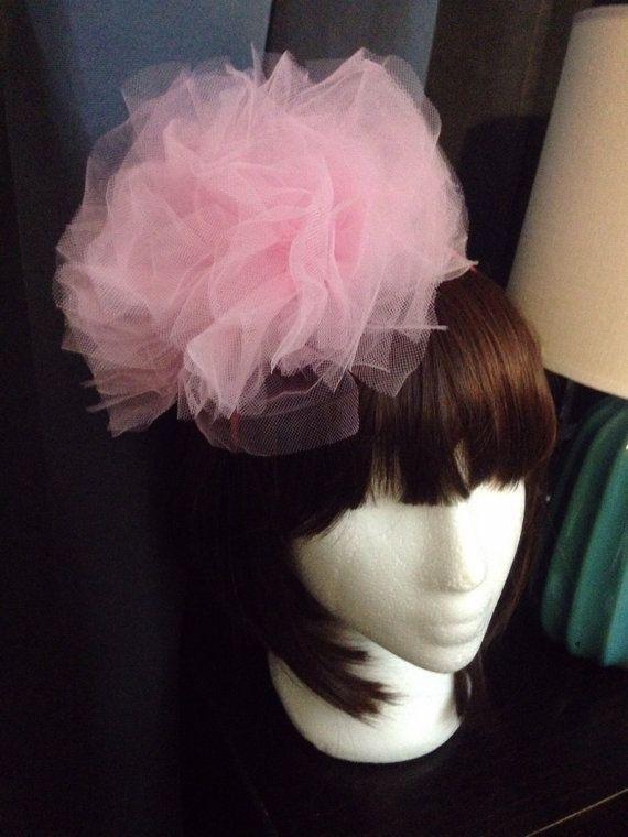 Pink blossom Tutu headband by madling on Etsy