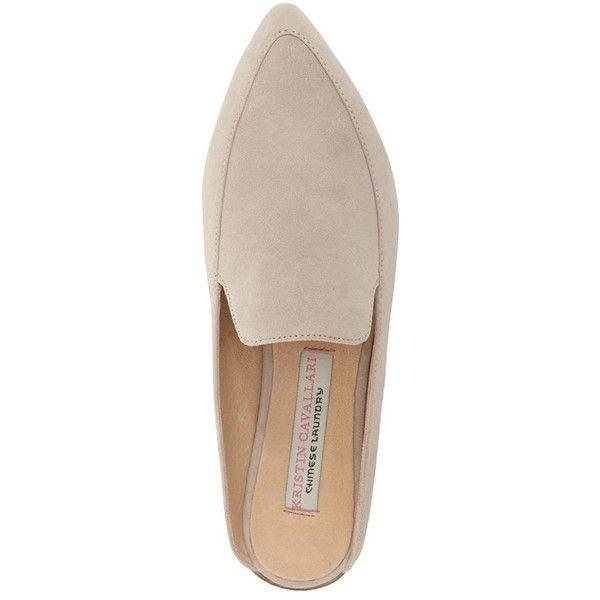 Women's Kristin Cavallari 'Capri' Mule ($120) ❤ liked on Polyvore featuring shoes, flat pointy toe shoes, flat mules shoes, kristin cavallari, flat shoes and pointed toe mules