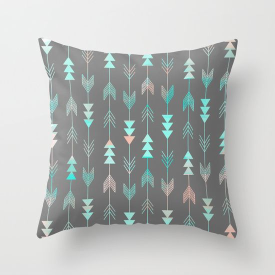 Aztec+Arrows+Throw+Pillow+by+Sunkissed+Laughter+-+$20.00