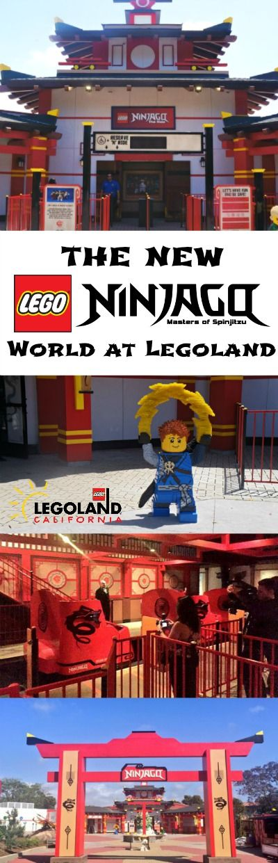 The New LEGO Ninjago World at Legoland California - my kids are so excited for this! Be sure to stop by when you visit San Diego with the whole family this summer