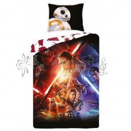 Star Wars the Force Awakens SW723 - lenjerie de pat din bumbac pentru copii 140x200