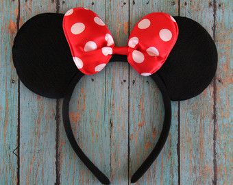 Orejas de Minnie Mouse diadema de Minnie por KaiandLeeBowtique