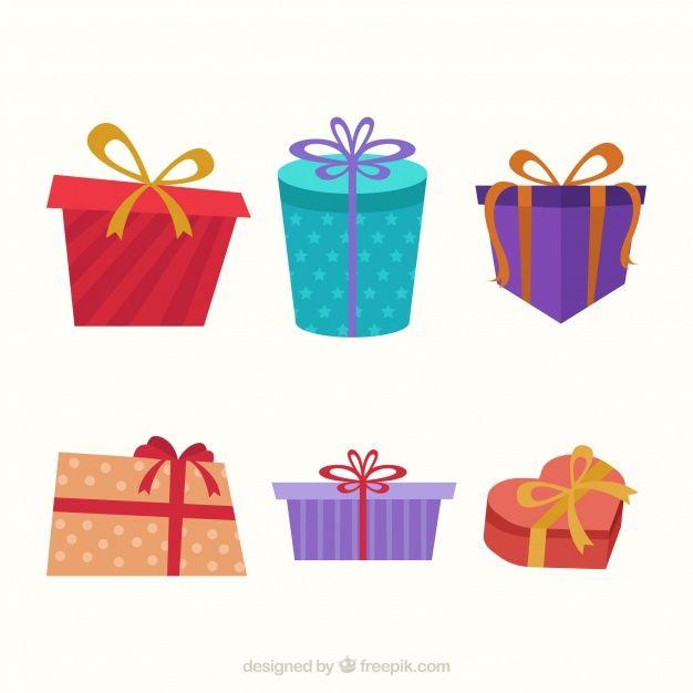 Vintage christmas gift set #Free #Vector  #Vintage #Christmas #Christmascard #Merrychristmas #Design #Gift #Xmas #Box #Retro #Giftbox #Celebration #Happy #Holiday #Giftcard #Festival #Present #Happyholidays# Flat #Decoration #Christmasdecoration