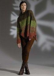 Вязание джемпера из мохера спицами Paige из Rowan 52