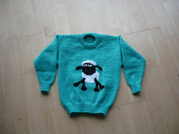 Shaun The Sheep Jumper Age 1 2 3 4 5 Amp 6 Knitted By