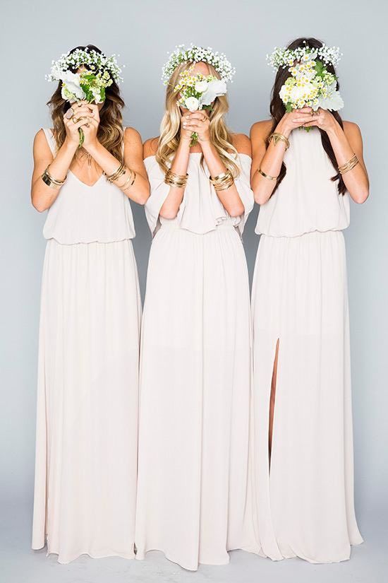 romantic bridesmaid dress idea; Via Show Me Your Mumu