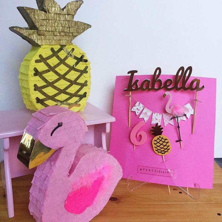 Piñatas~Flamingo & pineapple Piñatas