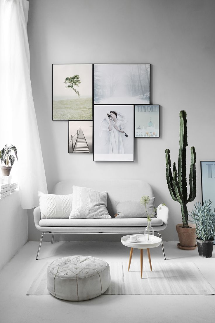 Interior Scanmdinavian, Scandinavian Home Decor, Wall Gallery Ideas,  Gallery Wall Art Inspiration