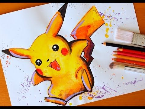 Painting: PIKACHU | Pokemon | BUDGET ART
